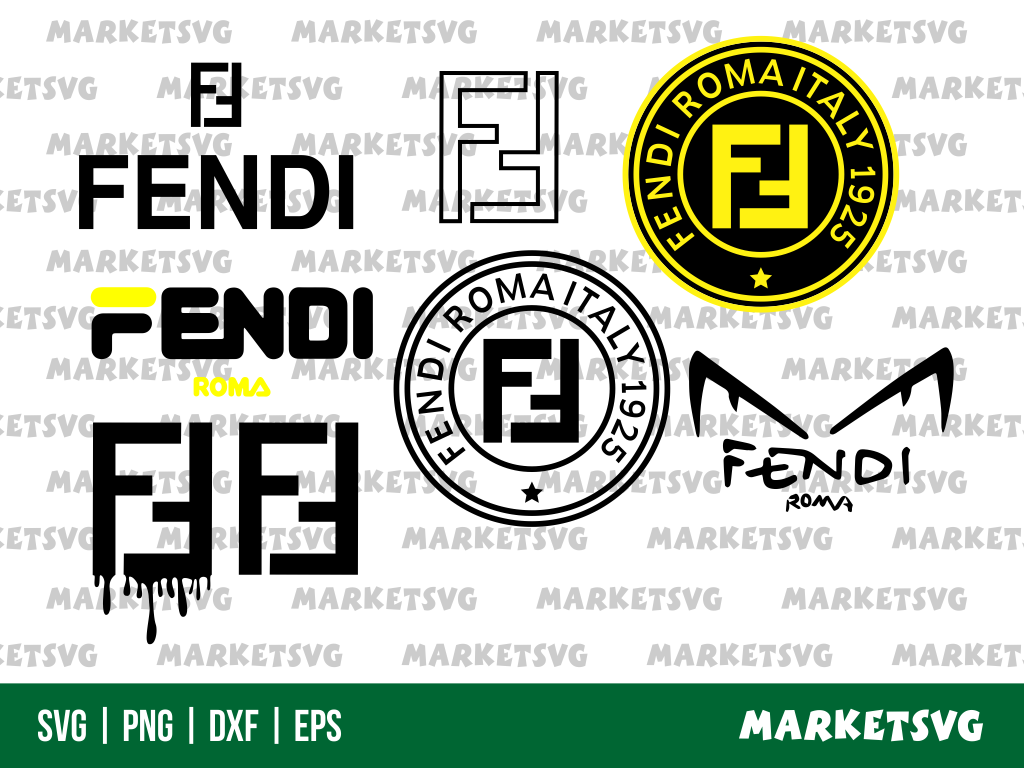 fendi logo blood drip svg