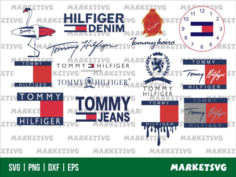 Tommy Hilfiger Logo Blood Drip SVG