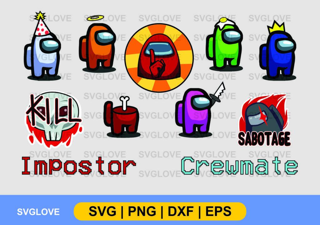 among us vector svg