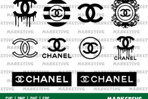 Chanel Logo Blood Drip SVG