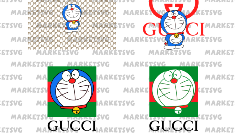 Gucci Doraemon SVG