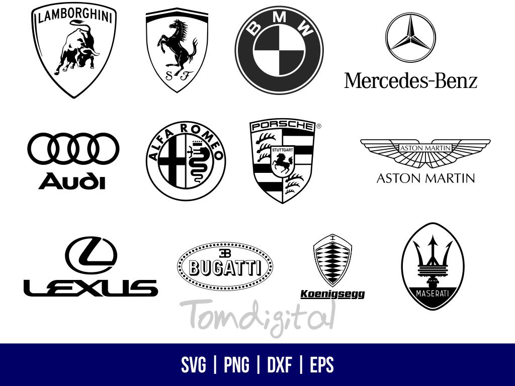 famous car brand svg