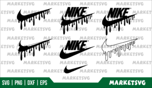 nike logo blood drip svg