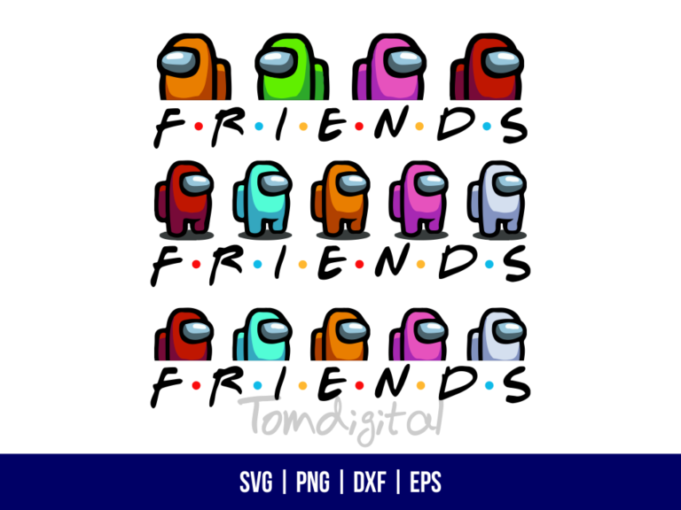 Among Us Friends SVG