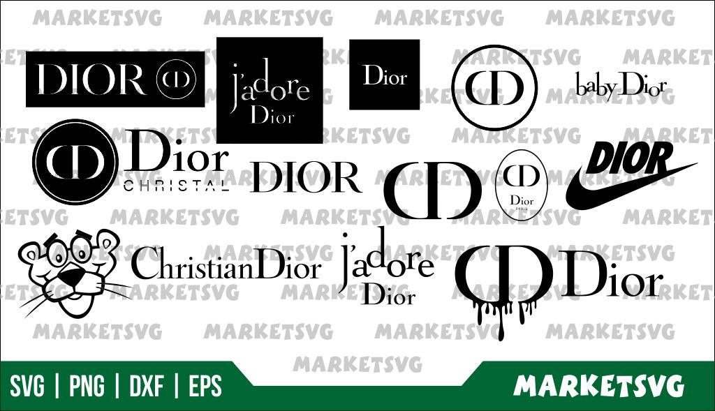 Dior logo blood drip svg