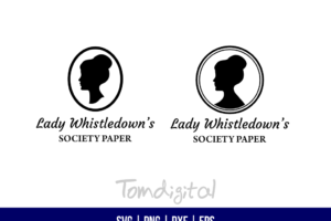 Lady Whistledowns Society Paper SVG