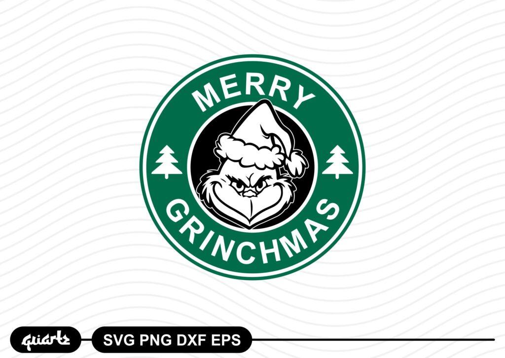 Merry Grinchmas Starbuks Logo SVG