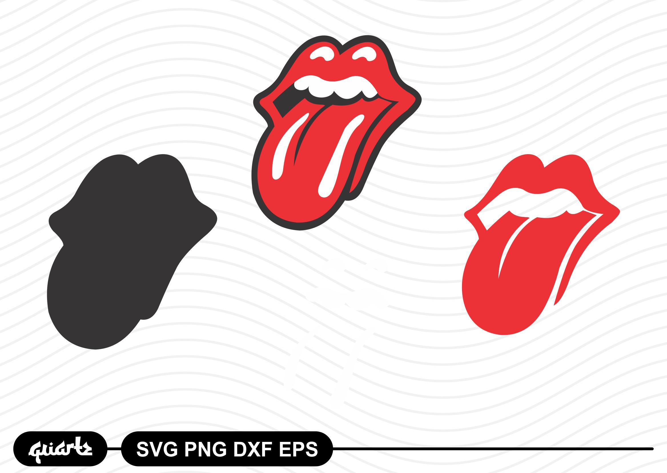 Rolling Stones Tongue Logo SVG