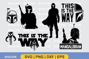 the mandalorian star wars svg bundle