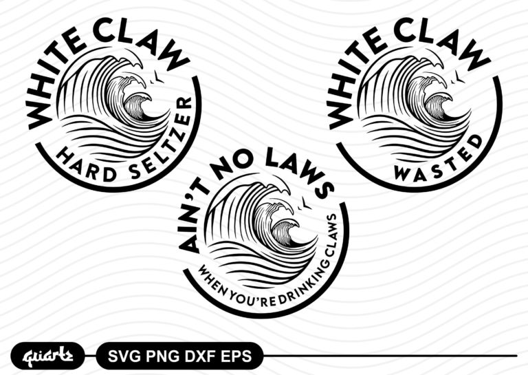 White Claw Logo SVG Cut File - Gravectory