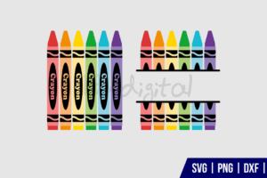 Crayon Monogram SVG