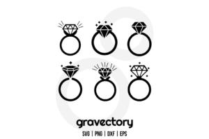 Diamond Ring SVG Cut Files