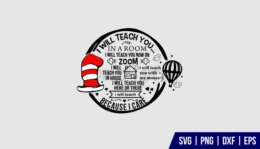 Dr Seuss Teacher SVG Cut File