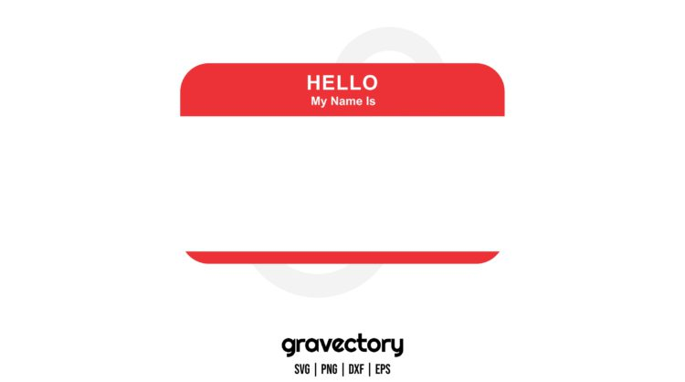 HELLO MY NAME IS TAG SVG