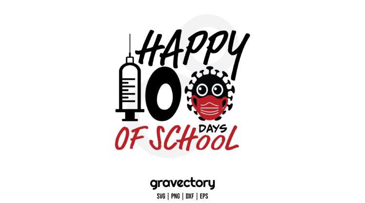 Happy 100 Days Of School SVG