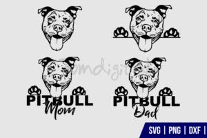 PITBULL Clipart SVG