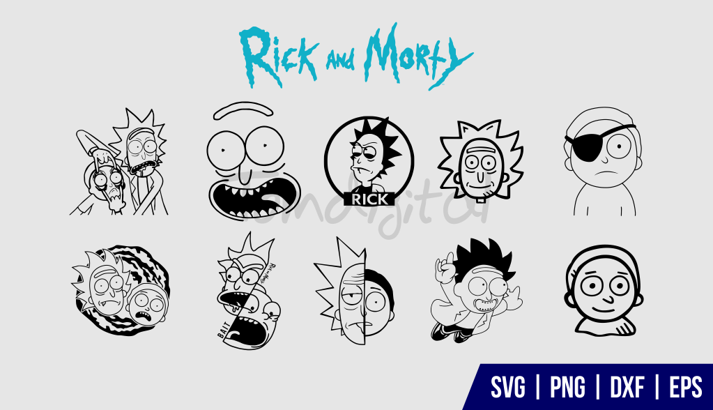 Rick and Morty SVG