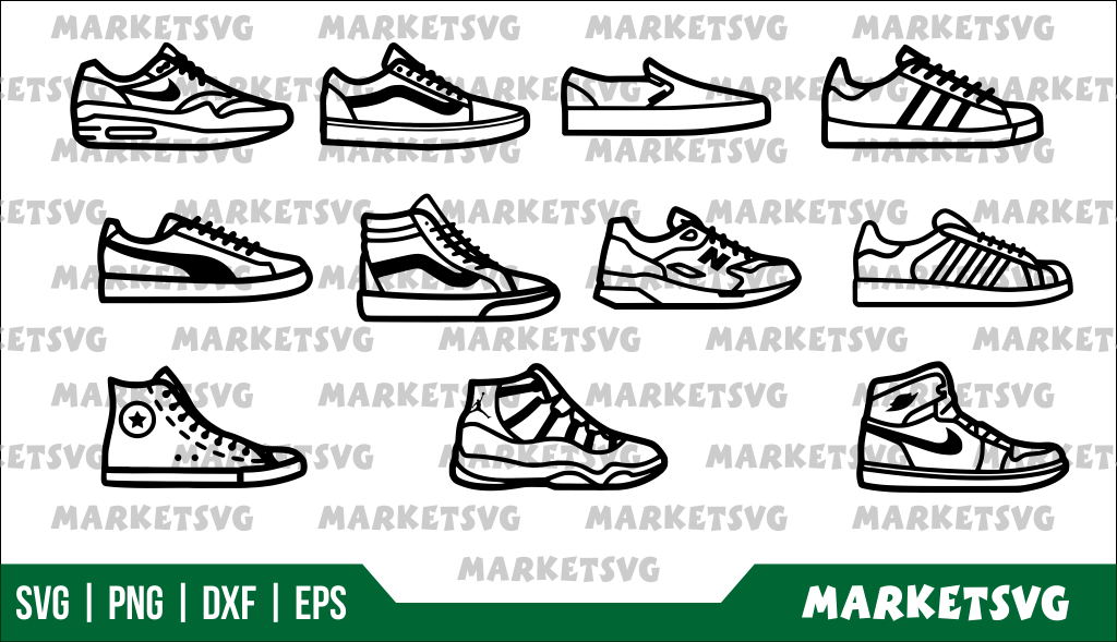 Sneakers brand svg