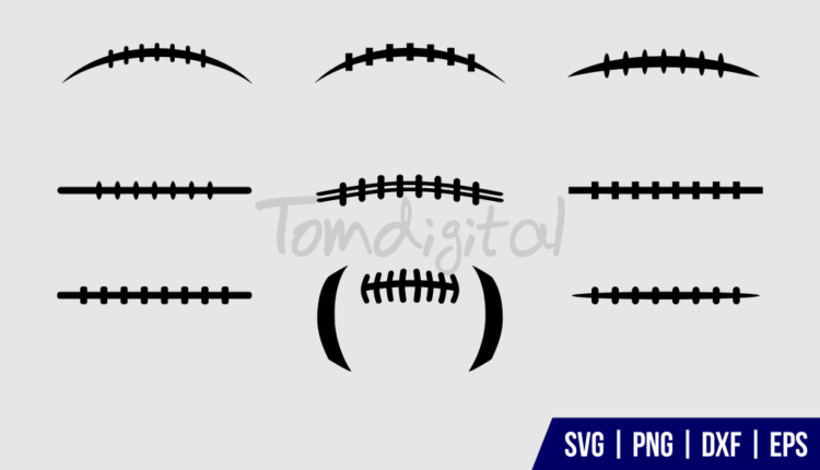 football laces svg