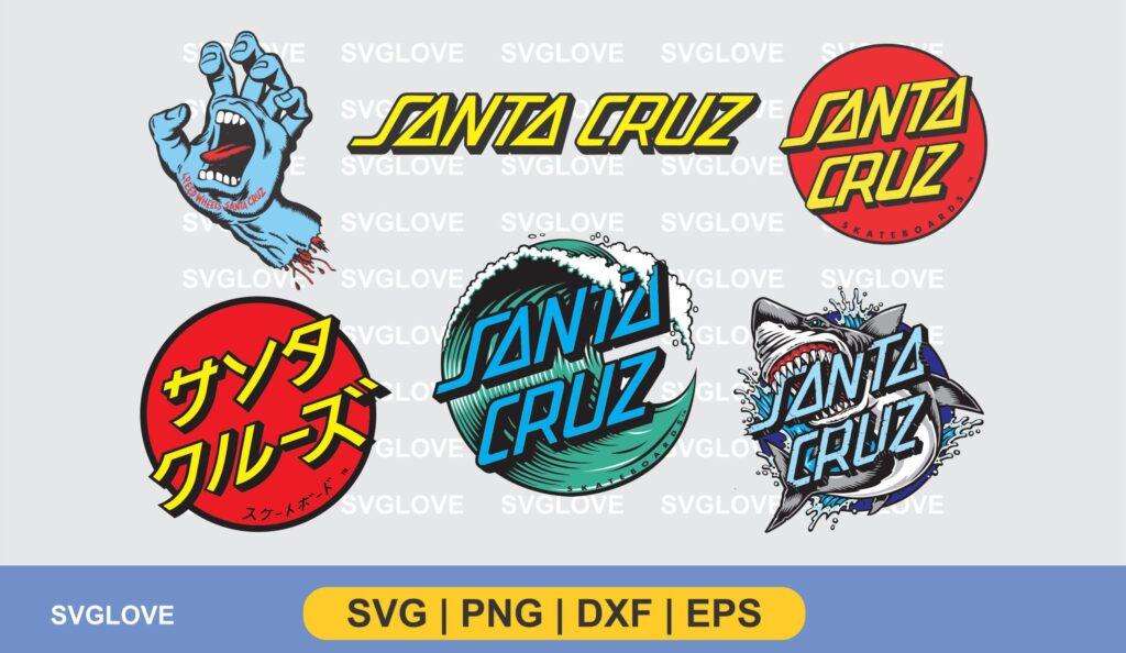 santa cruz logo vector SVG PNG DXF EPS