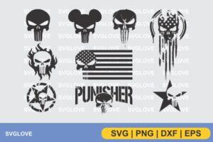 the punisher logo svg