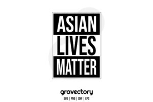 asian lives matter svg