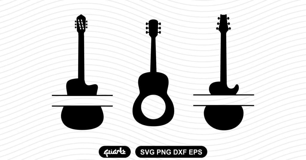 guitar monogram svg Guitar Monogram SVG