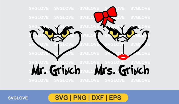 mr and mrs grinch svg