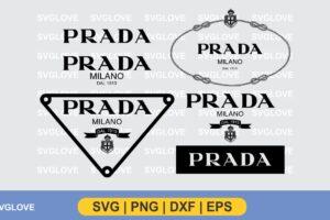 prada logo svg bundle