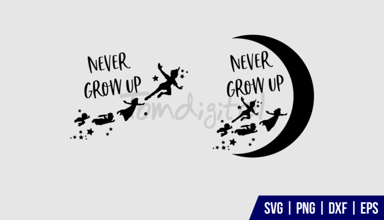 Never grow up SVG