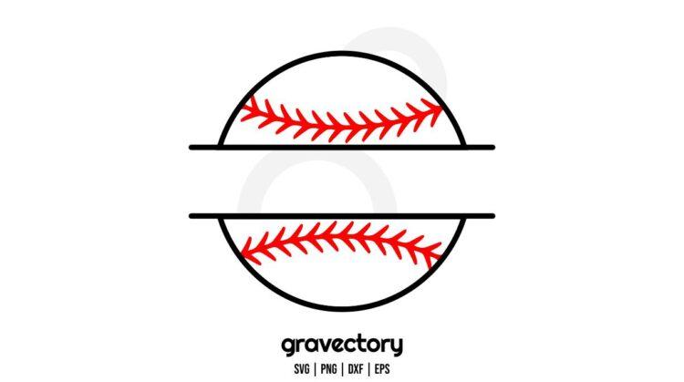 baseball ball monogram svg