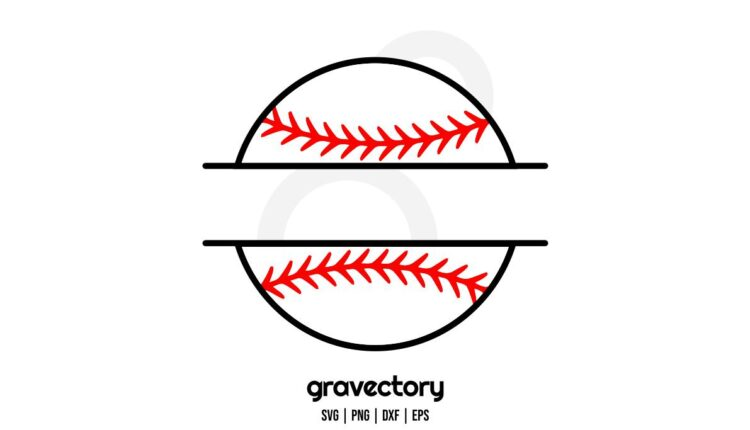 baseball ball monogram svg