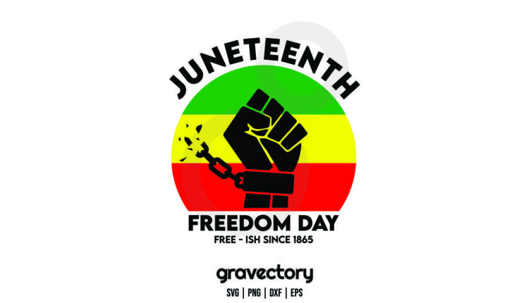 juneteenth freedom day free ish since 1865 SVG