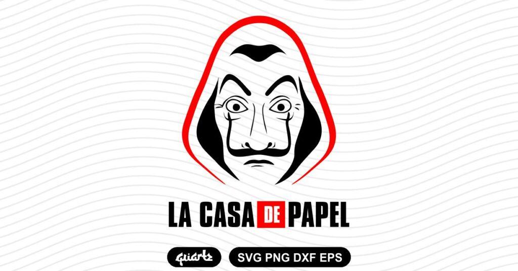 la casa de papel money heist svg La Casa De Papel Money Heist SVG
