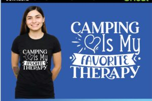 Camping Is My Favorite Therapy Svg