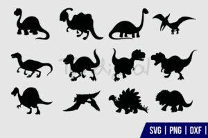 Dinosaur Clipart SVG Bundle