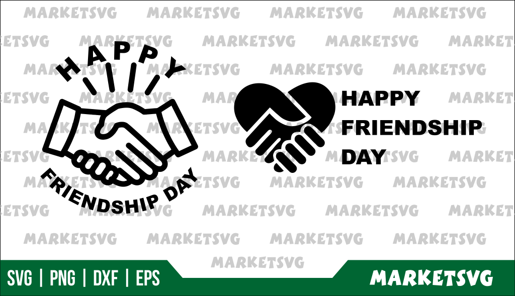 Happy Friendship Day SVG