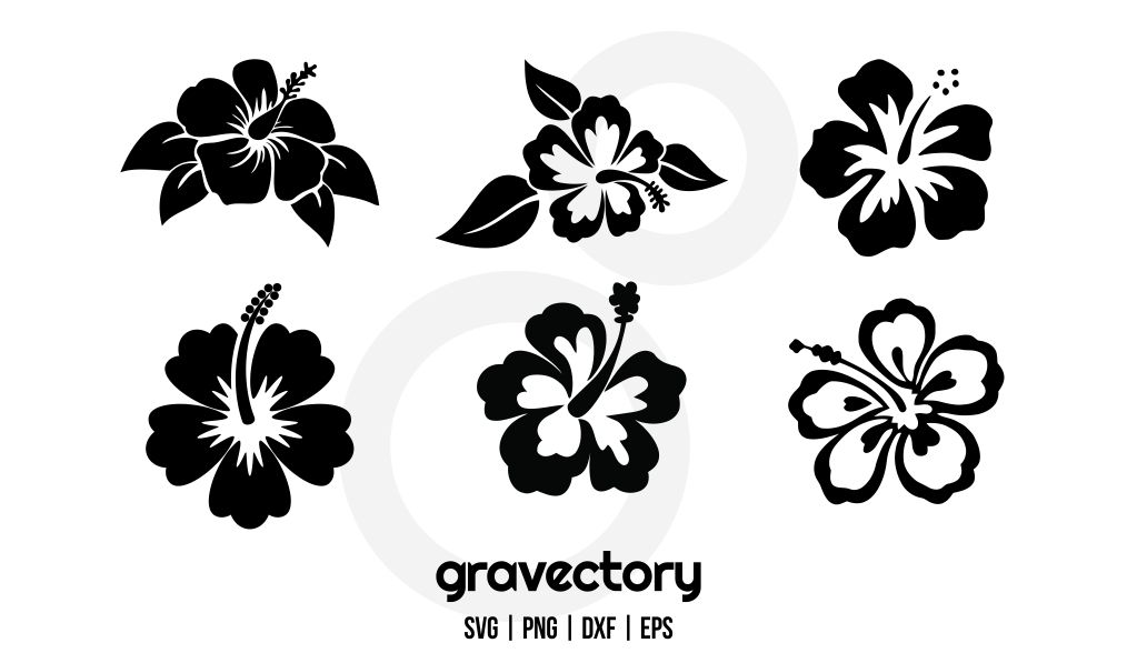 Hawaiian Flower SVG Bundle