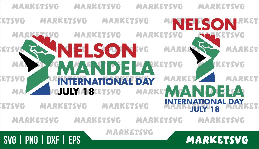 Nelson Mandela International Day SVG