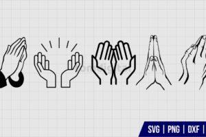 Praying Hands SVG Bundle