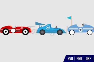 Race Car SVG Cut File Bundle