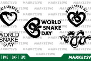 World Snake Day SVG Bundle