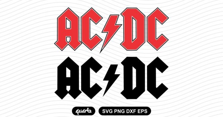 acdc logo svg cut file