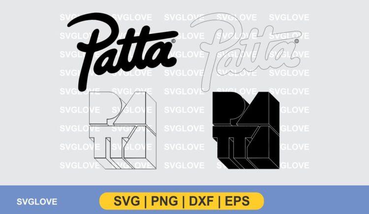patta logo svg cut file