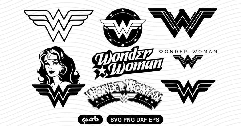 Wonder Woman Logo SVG Bundle