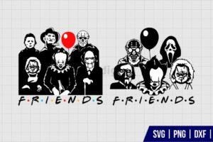 Halloween Horror Movie Friends SVG