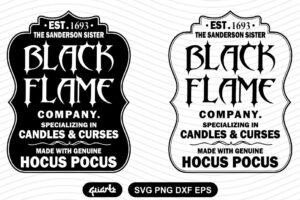 black flame company LABEL SVG
