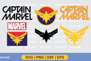 captain marvel logo svg