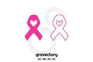 Ribbon Cancer SVG