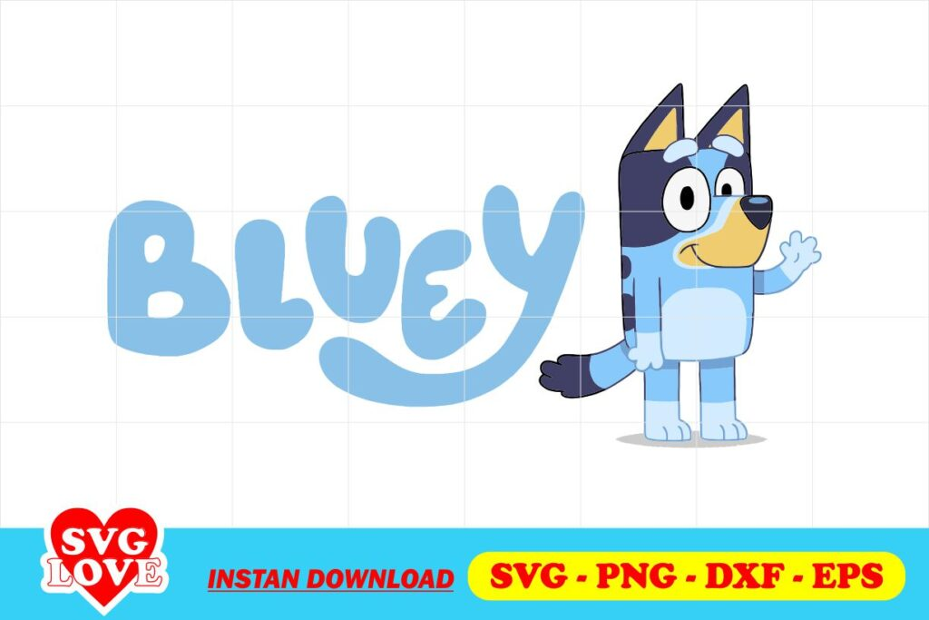 bluey svg